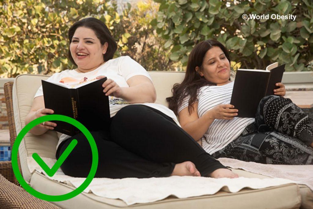 Wereld Obesitas Dag - Dikke inactieve mensen