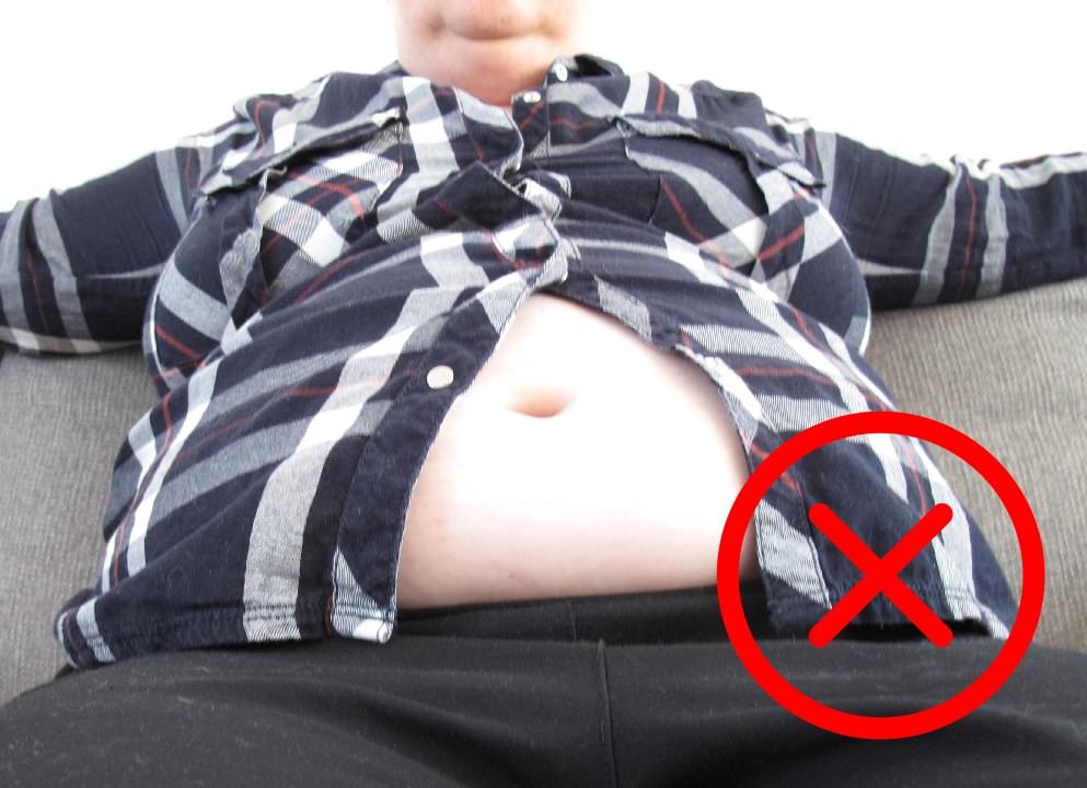 Wereld Obesitas Dag - Stigmatiserende foto van slecht geklede dikke mensen