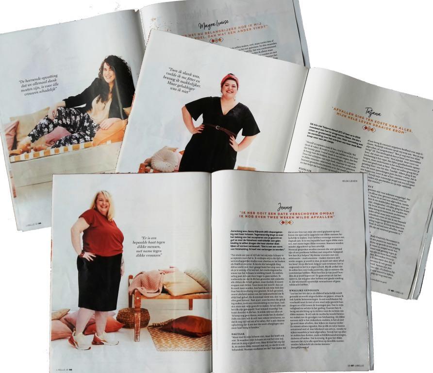 Libelle fatshaming 3luik Mayra Louise, Tatjana Almuli en Jenny Klijnsmit